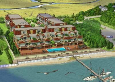 Egg Harbor Bluffs Aerial View